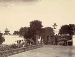 Arrival of Mr Bernard, the Chief Commissioner, at the Palace of Mandalay, on the 15th Dec, 1885